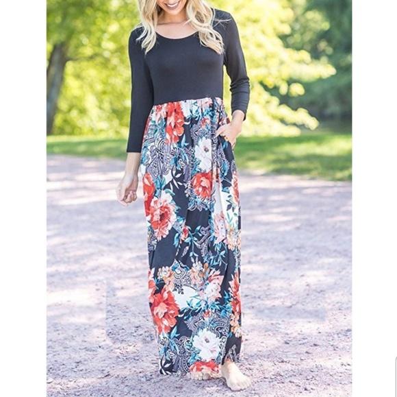 c725663a95c Multicolor maxi dress comfortable new Floral